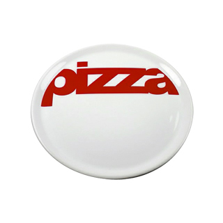 ASSIETTE PIZZA DECOR ROUGE