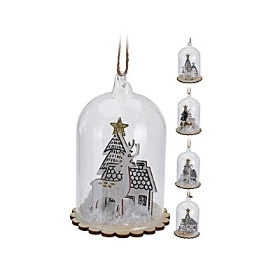 DECO PENDANT CLOCHE 10CM ASS