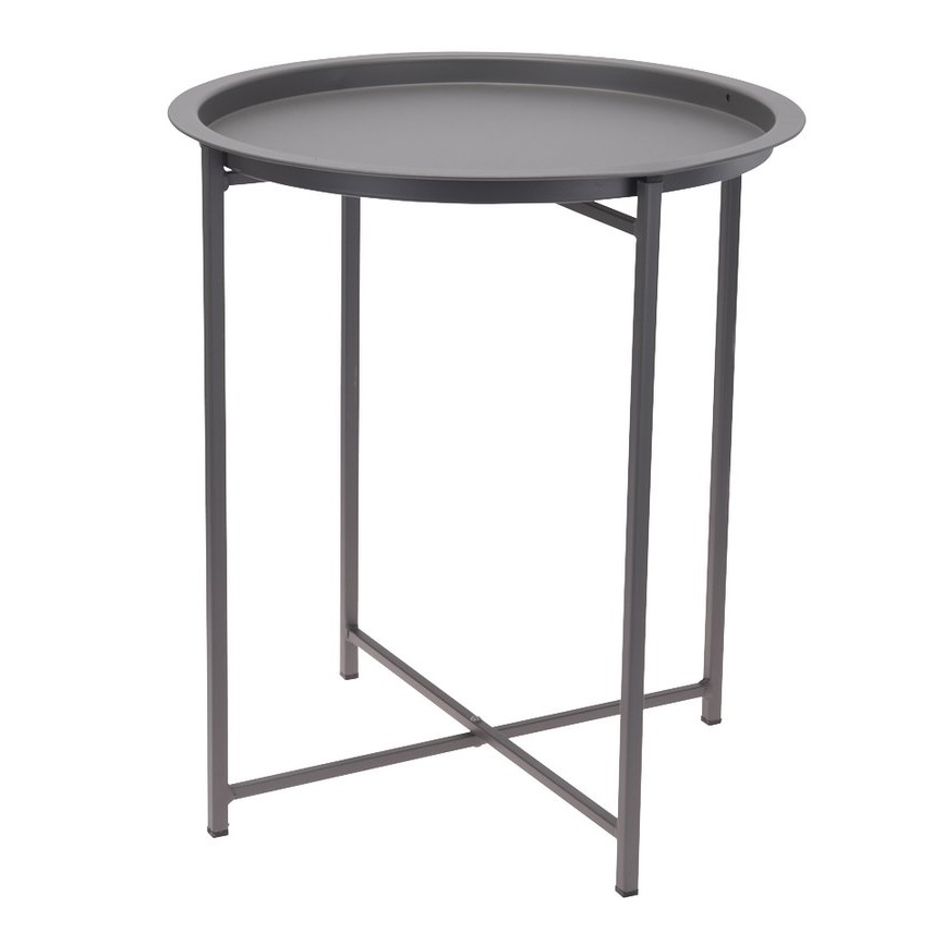 TABLE METAL 46CM GRIS CLAIR