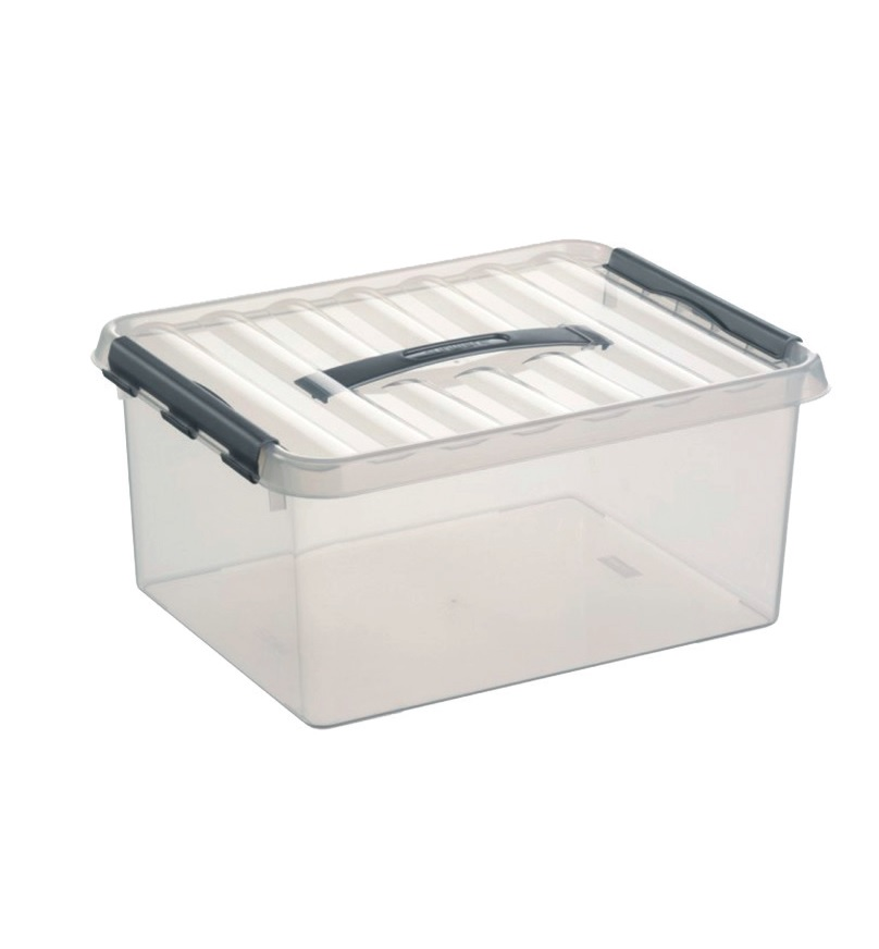 BOX Q LINE 15L 3+1 TRANSPARENT